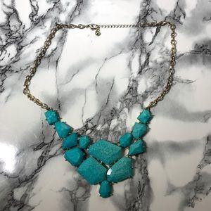 Jewelry - Chunky Turquoise Statement Bib Necklace